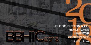 Bloom Burton & Healthcare Investor Conference, 02-03 May, 2018, Toronto, Canada